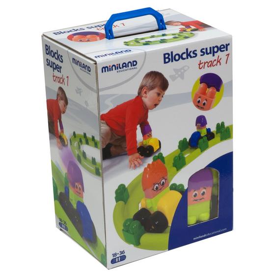 Miniland Конструктор Blocks Super Трек 1