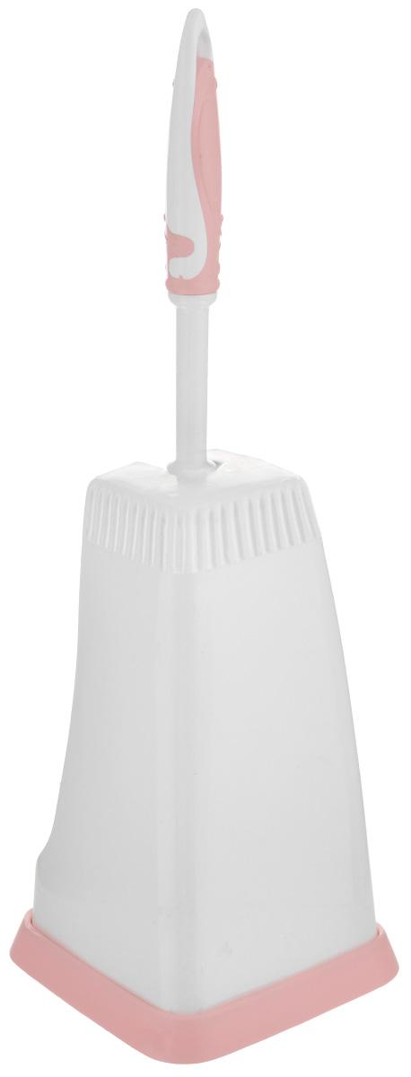 """Напольный комплект для туалета """"Banat"""" состоит из ершика и подставки. Подставка с устойчивым квадратным дном эстетично закрывает ерш, широкое отверстие позволяет ему просушиваться. Ершик оснащен жесткой щетиной, которая эффективно удаляет загрязнения. Удобная рукоятка снабжена противоскользящими резиновыми вставками. В подвешенном виде ворс не сминается во время хранения.  Напольный комплект для туалета прекрасно дополнит интерьера уборной и послужит функционально.  Размер подставки: 13 см х 13 см х 22 см.  Длина ершика: 34 см.  Длина ворса: 2,5 см."""