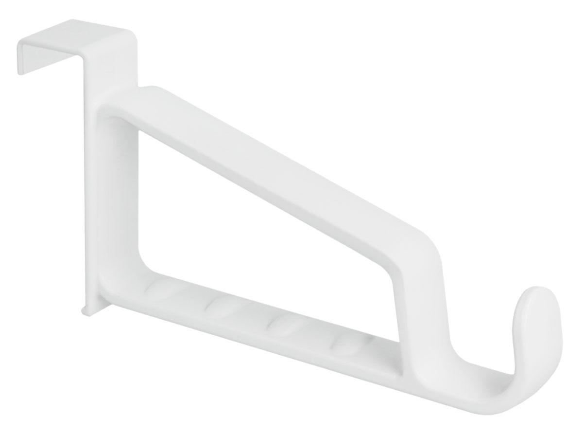 Вешалка-крючок Metaltex, дверная, цвет: белый крючок двойной metaltex eureka