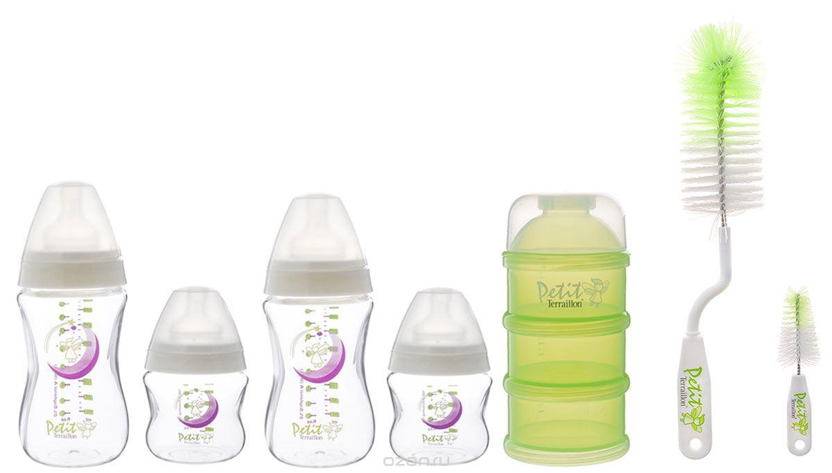 Petit Terraillon Набор для новорожденного цвет зеленый белый бутылочки для кормления petit terraillon бутылочка для кормления petit terraillon 150 мл