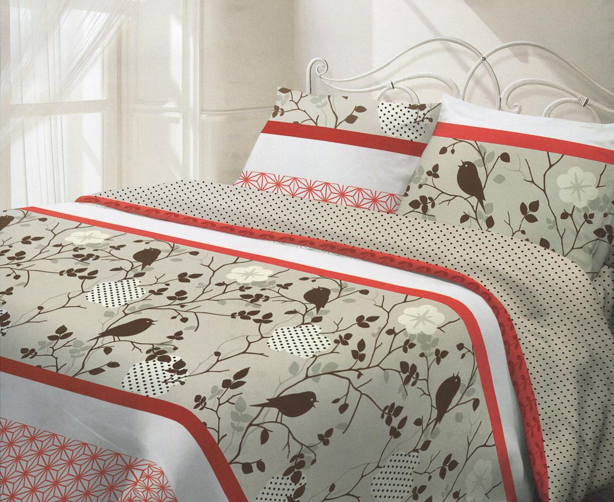 Комплект белья Гармония Летний сад, 2-спальный, наволочки 70х70, цвет: белый, красный, коричневый190834Комплект постельного белья Гармония Летний сад является экологически безопасным для всей семьи, так как выполнен из натурального хлопка. Постельное белье оформлено оригинальным рисунком и имеет изысканный внешний вид. Постельное белье Гармония - лучший выбор для современной хозяйки! Его отличают демократичная цена и отличное качество.Гармония производится из поплина - 100% хлопковой ткани. Поплин мягкий и приятный на ощупь. Кроме того, эта ткань не требует особого ухода, легко стирается и прекрасно держит форму. Высококачественные красители, которые используются при производстве постельного белья экологичны и сохраняют свой цвет даже после многочисленных стирок.Благодаря высокому качеству ткани и европейским стандартам пошива постельное белье Гармония будет радовать вас долгие годы!