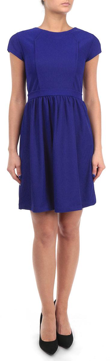 Платье Broadway, цвет: синий. FA KIT01 BLUE. Размер M (46)FA KIT01 BLUEЛегкое женское платье Broadway, выполненное из высококачественного материала - прекрасный вариант для модных женщин, желающих подчеркнуть свою индивидуальность и хороший вкус.Модель с круглым вырезом горловины и короткими рукавами застегивается на застежку-молнии на спинке. Линию талии подчеркивает крой изделия.Лаконичный дизайн и совершенство стиля подчеркнут ваш характер.