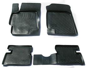 Коврики в салон автомобиля L.Locker, для Kia Rio III sd (09-), 4 шт0203010501Коврики L.Locker производятся индивидуально для каждой модели автомобиля из современного и экологически чистого материала. Изделия точно повторяют геометрию пола автомобиля, имеют высокий борт, обладают повышенной износоустойчивостью, антискользящими свойствами, лишены резкого запаха и сохраняют свои потребительские свойства в широком диапазоне температур (от -50°С до +80°С). Рисунок ковриков специально спроектирован для уменьшения скольжения ног водителя и имеет достаточную глубину, препятствующую свободному перемещению жидкости и грязи на поверхности. Одновременно с этим рисунок не создает дискомфорта при вождении автомобиля. Водительский ковер с предустановленными креплениями фиксируется на штатные места в полу салона автомобиля. Новая технология системы креплений герметична, не дает влаге и грязи проникать внутрь через крепеж на обшивку пола.