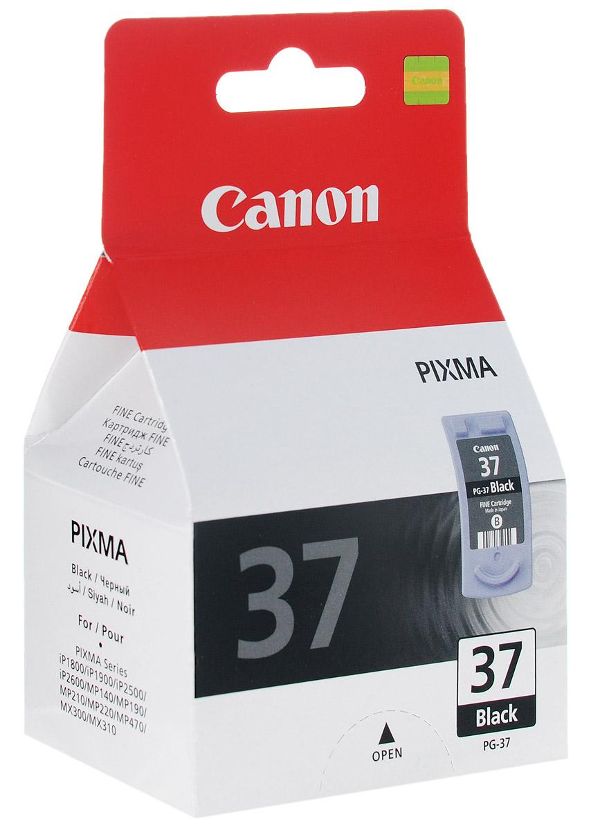 Canon PG-37BK, Black картридж для струйных МФУ/принтеров canon pg 512bk black картридж для струйных мфу принтеров