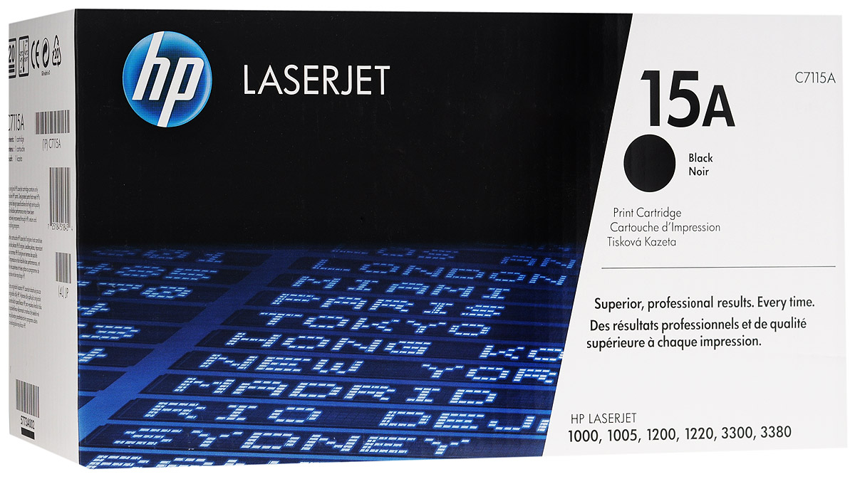 HP C7115A (15A), Black картридж для лазерных МФУ/принтеров картридж hp cb323he 178xl cyan для c5383 c6383 b8553 d5463