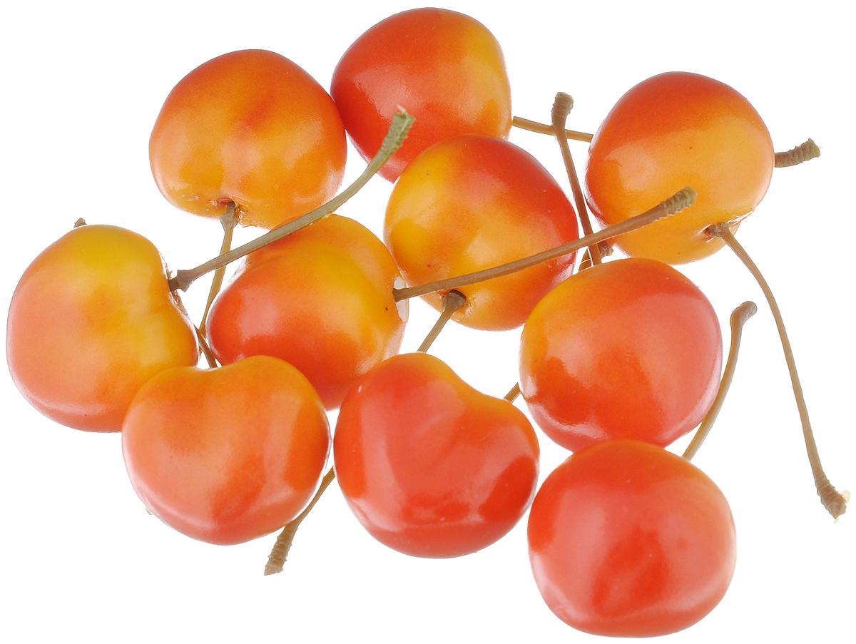 Муляж Черешня, цвет: желто-красный, 2,5 см, 10 штSCR30/10Муляж Черешня изготовлен из полиуретана, окрашен в естественные цвета. Предназначен для украшения интерьера дома.Высота одной ягоды муляжа: 2,5 см.В наборе: 10 ягод.