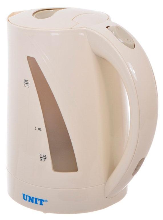 Unit UEK-242, Beige электрический чайникUEK-242 бежевыйЭлектрический чайник UNIT UEK-242 - это отлично укомплектованный,мощный чайник. Он прекрасно подойдет для дома и для офиса, атакже для тех, кто просто любит посиделки, чаепития, приятныевстречи и душевные мероприятия. Обладая высокой мощностью в 2000 Вт, онпозволит вскипятить воду за считанные минуты. Благодаря объему1.7 л, чайник UNIT UEK-242 позволит Вам разделить радость чаепитиявместе с большой компанией или в кругу близких. После закипаниячайник отключается автоматически, что позволяет Вам существенносэкономить на электроэнергии. Существенным преимуществом скрытогонагревательного элемента, установленного в чайник, является то,что чайник намного удобнее мыть, накипь отходит от стенок и днабыстро и легко. Индикатор уровня воды облегчит Вам необходимостьизмерять нужное количество воды. Защитить от накипи поможет фильтр,встроенный в чайник. Благодаря ему накипь не попадает Вам вкружку, после чего Вы с легкостью можете промыть фильтр, не заменяяего на новый. Вместе с чайником UNIT UEK-242 Вы убедитесь,насколько легко проводить уютные вечера и званые чаепития. Нежный иприятный бежевый цвет придаст спокойствие и гармонию Вашей кухне.