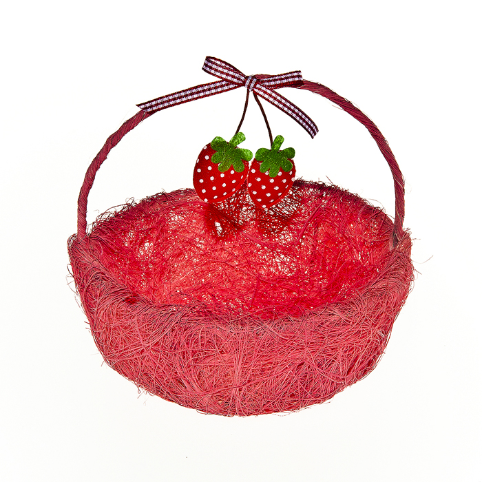 Корзина декоративная Home Queen Ягоды, цвет: розовый, 14 x 13 x 5 см64328_2Корзина Home Queen Ягоды, выполненная из бумаги, предназначена для хранения различных мелочей. Изделие декорировано яркими клубничками и оснащено ручкой.