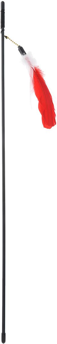 Дразнилка-удочка для кошек V.I.Pet Гусиное перо, цвет: белый, красный, 72 смVG-501_белый, красныйДразнилка-удочка V.I.Pet Гусиное перо доставит вашему питомцу массу удовольствия от игры сней. Она представляет собой пластиковую палочку с веревкой, на которую прикрепленыразноцветные перья. Дразнилка-удочка привлечет внимание кошек, которые любят общение, игры и охотиться. Игра стакой дразнилкой будет способствовать развитию и поддержанию мышц животного в тонусе. Длина палочки: 72 см.Размер игрушки: 16 см х 4 см х 0,5 см.