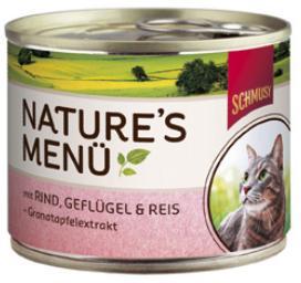Консервы для кошек Schmusy, с говядиной и птицей, 190 г70052Консервы для кошек Schmusy - это полноценная еда с множеством натуральных ингредиентов для кошек и котов. Корм богат содержанием отборного мяса, потому что кошки - это настоящие хищники, они нуждаются в пище, богатой белками. В этих ванночках маленькие кусочки мяса смешаны с паштетом. Кроме отборного мяса в корм добавлена мука из семян граната. Гранат благодаря своим антиоксидантным свойствам защищает клетки от так называемых свободных радикалов. Также добавлен таурин для правильного развития организма кошек. Не содержит сои, красителей, ароматизаторов, костной муки, консервантов.Состав: говядина - 30%, птица - 20%, печень, потрошки, рис - 4%, минералы, измельченные косточки граната - 0,1%. Гарантированный анализ: белок - 10,5%, жир - 5,5%, клетчатка - 0,3%, зола - 2%, влажность - 79%. Витамины и минералы: витамин B1 - 24 мг/кг, витамин B6 - 6 мг/кг, витамин D3 - 180 МЕ/кг, витамин E - 89 мг/кг, фолиевая кислота - 1,5 мг/кг, таурин - 590 мг/кг.Товар сертифицирован.