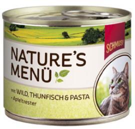 Консервы для кошек Schmusy, с дичью и тунцом, 190 г70054Консервы для кошек Schmusy - это полноценная еда с множеством натуральных ингредиентов для кошек и котов. Корм богат содержанием отборного мяса, потому что кошки - это настоящие хищники, они нуждаются в пище, богатой белками. В этих ванночках маленькие кусочки мяса смешаны с паштетом. Кроме отборного мяса в этот корм добавлен яблочный жмых, который отлично регулирует деятельность желудка и кишечника, как во время игр, так и во время отдыха. Также добавлен таурин для правильного развития организма кошек. Не содержит сои, красителей, ароматизаторов, костной муки, консервантов.Состав: отборное мясо, дичь - 10%, тунец - 10%, легкое, печень, субпродукты, лапша - 4%, яблочный жом - 0,2%, минералы. Гарантированный анализ: белок - 10,5%, жир - 5,5%, клетчатка - 0,5%, зола - 2%, влажность - 79%. Витамины и минералы: витамин B1 - 24 мг/кг, витамин B6 - 6 мг/кг, витамин D3 - 180 МЕ/кг, витамин E - 89 мг/кг, фолиевая кислота - 1,5 мг/кг, таурин - 590 мг/кг.Товар сертифицирован.