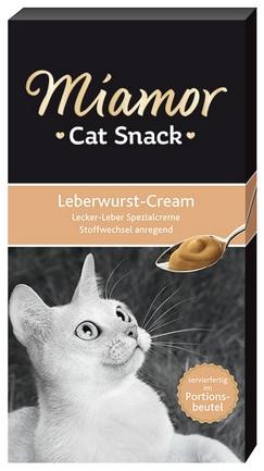 Лакомство для кошек Ливерный крем, 90 г74303Лакомство Miamor Leberwurst-Cream - жидкое и полезное лакомство для кошек на основе особых сливок с добавлением большого количества витаминов и других полезных веществ. Содержит суточную дозу витаминов и микроэлементов. Незаменим при выхаживании котят и больных животных, когда они отказываются от пищи.Лакомство не содержит сою, красители, ароматизаторы, консерванты. Состав: мясо и его субпродукты, молоко и молочные продукты, витамины, минералы.Товар сертифицирован.