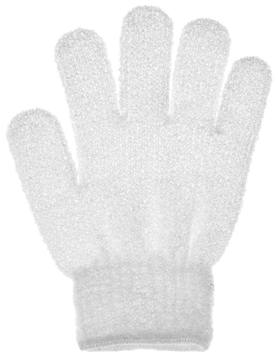 Мочалка-перчатка Банные штучки, цвет: белыйЯМЖ_оМочалка-перчатка Банные штучки, выполненная из нейлона, станет незаменимым аксессуаромванной комнаты. Мочалка предназначена для интенсивного антицеллюлитного массажа. Мочалка обладает отличным массажным эффектом, она эффективно тонизирует, массирует, очищает.