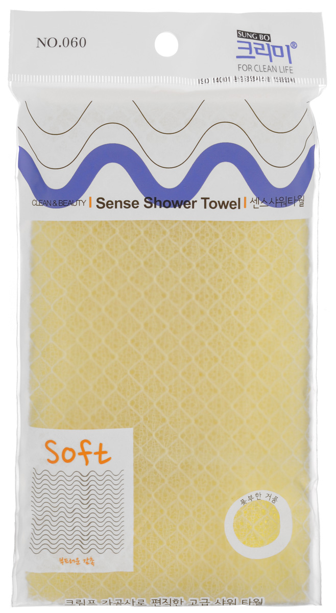 Мочалка для душа SungBo Clean&Beauty Sense, цвет: желтый, 28 х 95 смУТ000000674_желтыйМочалка для душа SungBo Clean&Beauty Sense изготовлена из нейлона, волокна которого создают ощущение мягкой и нежной шероховатости. Мочалка стимулирует циркуляцию крови по всему телу и помогает сохранить здоровье и упругость кожи. Текстура с тиснением в пастельных тонах имеет изысканный вид и создает ощущение комфорта в вашей ванной комнате. Мочалка позволяет получать обильную пену, используя небольшое количество геля для душа.