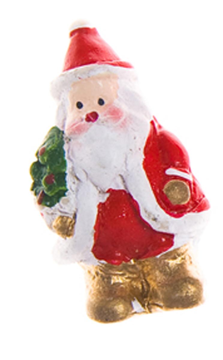 Декоративное украшение Lunten Ranta Новогодний микс. Дед Мороз, на стикере, цвет: красный, зеленый, бежевый, 3 х 2 см, 6 шт новогоднее украшение баннер lunten ranta с новым годом длина 100 см