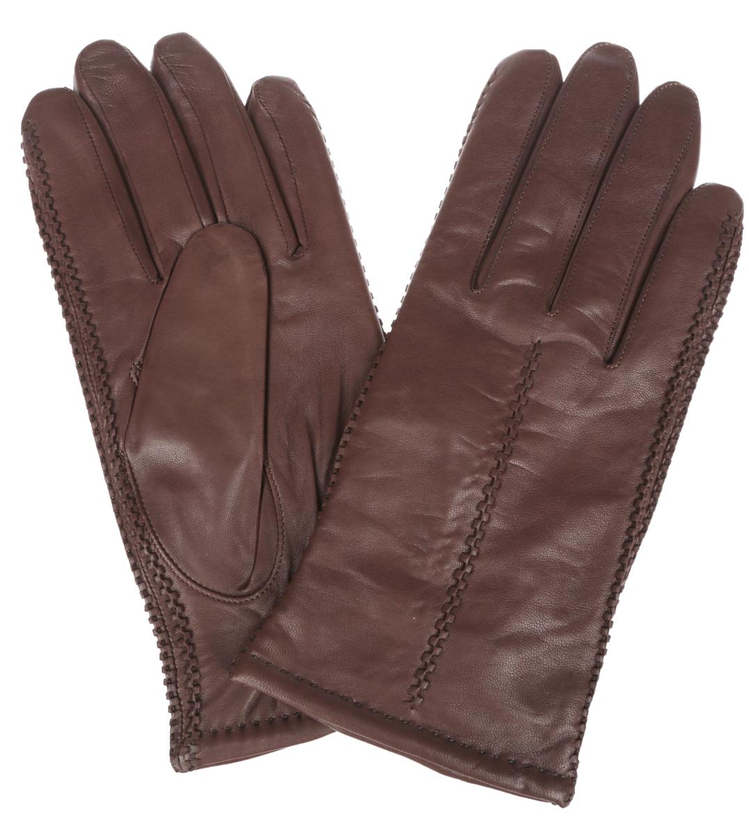 Перчатки мужские Eleganzza, цвет: коричневый. HP6012. Размер 10HP6012Классические мужские перчатки Eleganzza не только защитят ваши руки, но и станут великолепным украшением. Перчатки выполнены из чрезвычайно мягкой и приятной на ощупь натуральной кожи ягненка, а их подкладка - из натуральной шерсти с добавлением кашемира.Перчатки по бокам и с внешней стороны оформлены объемной декоративной отстрочкой, а на запястьях присборены на эластичные резинки. Качественная отделка кожи делает эту модель не только красивой, но и долговечной.Модель благодаря своему лаконичному исполнению прекрасно дополнит образ любого мужчины и сделает его более стильным, придав тонкую нотку брутальности. Создайте элегантный образ и подчеркните свою яркую индивидуальность новым аксессуаром!