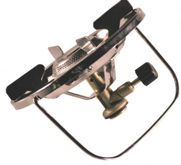 Горелка газовая Следопыт Горящая Чаша33240Практичная, надежная и предельно простая в обращении газовая горелка. Имеет усиленный монолитный каркас и дополнительные ребра жесткости. Хорошо подходит для посуды с диаметром варочной поверхности до 25 см. При этом максимальная нагрузка на рабочую поверхность плиты может достигать 20 кг и ограничивается только допустимой предельной грузоподъемностью газовых баллонов, на которые плита установлена (до 5 кг). Плита подключается к российским вентильным баллонам 5 л. Сама горелка развивает мощность порядка 1,5 кВт. И благодаря своим характеристикам может быть использована для приготовления пищи для небольших группах путешественников (до 5-6 человек). Для питания плиты используются газовые смеси в баллонах FG-230 и FG-450 с резьбовым клапаном, а также баллоны FG-220 нажимного типа с цанговым патроном используя переходник PF-GSA-02 (поставляется отдельно). Для розжига горелки вы можете использовать спички, зажигалку или автономный пьезоэлектрический розжиг. Мощность горелки: 1,5 кВт.Диаметр горелки: 50 см.Вес горелки: 295 г.Размер в походном положении: 160 х 170 х 100 мм.Макс. диаметр используемой посуды: 250 мм.