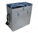 Ящик зимний оцинкованный двухсекционный, 28л HELIOS, Тонар48976Ящик зимний оцинкованный Helios – вместительный ящик с теплой крышкой, предназначенный для хранения рыболовных снастей и пойманного улова. Имеет 2 отдела, разделённых перегородками. Внутри ящика легко разместится термос с горячим чаем. Ящик также послужит удобным сиденьем на зимней рыбалке. Ящик изготовлен из оцинкованного железа толщиной 0.5мм, крышка - пенополистерол и двп, ткань - оксфорд. Размер ящика, (мм): 385 х 180 х 405. Вес: 2,7 кг.Объем: 28 л.Максимальная нагрузка, (кг): 130. Состав материала: оцинкованное железо