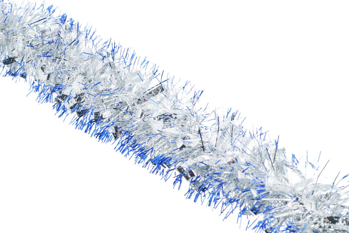 Мишура новогодняя Sima-land, цвет: синий, серебристый, диаметр 8 см, длина 200 см. 702579702579_синий, серебристыйНовогодняя мишура Sima-land, выполненная из фольги и декорированная матовыми серебристыми петельками, поможет вам украсить свой дом к предстоящим праздникам. А новогодняя елка с таким украшением станет еще наряднее. Мишура армирована, то есть имеет проволоку внутри и способна сохранять приданную ей форму. Новогодней мишурой можно украсить все, что угодно - елку, квартиру, дачу, офис - как внутри, так и снаружи. Можно сложить новогодние поздравления, буквы и цифры, мишурой можно украсить и дополнить гирлянды, можно выделить дверные колонны, оплести дверные проемы. Коллекция декоративных украшений из серии Зимнее волшебство принесет в ваш дом ни с чем несравнимое ощущение праздника! Создайте в своем доме атмосферу тепла, веселья и радости, украшая его всей семьей.