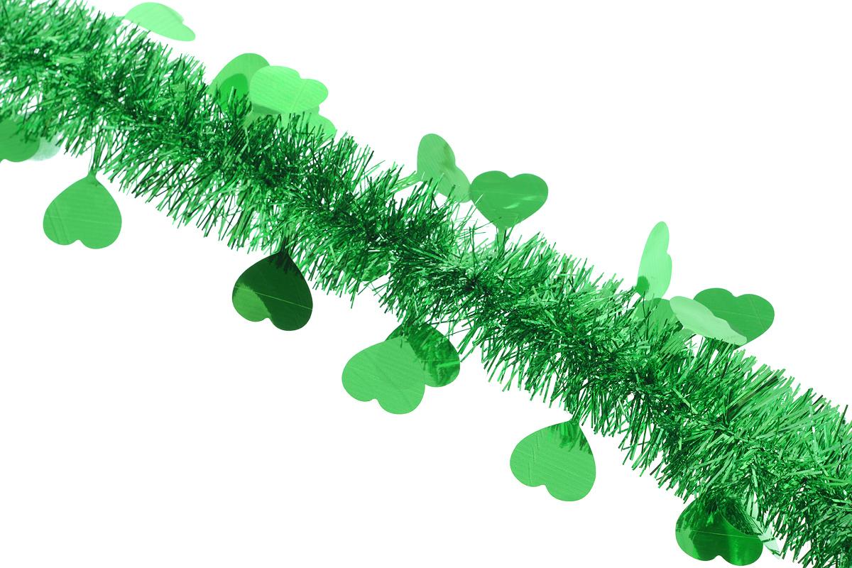 """Новогодняя мишура """"Sima-land"""", выполненная из фольги с дизайном в виде сердечек, поможет вам украсить свой дом к предстоящим праздникам. А новогодняя елка с таким украшением станет еще наряднее. Мишура армирована, то есть имеет проволоку внутри и способна сохранять приданную ей форму.  Новогодней мишурой можно украсить все, что угодно - елку, квартиру, дачу, офис - как внутри, так и снаружи. Можно сложить новогодние поздравления, буквы и цифры, мишурой можно украсить и дополнить гирлянды, можно выделить дверные колонны, оплести дверные проемы.  Коллекция декоративных украшений из серии """"Зимнее волшебство"""" принесет в ваш дом ни с чем несравнимое ощущение праздника! Создайте в своем доме атмосферу тепла, веселья и радости, украшая его всей семьей."""