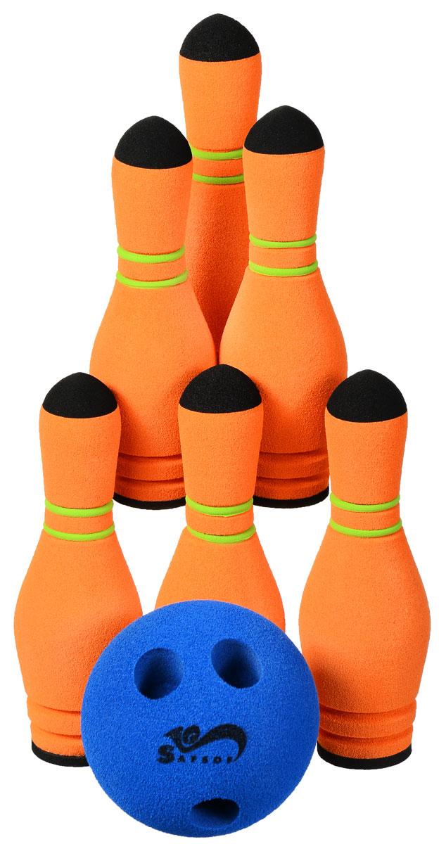 Safsof Игровой набор Мини-боулинг цвет синий оранжевый