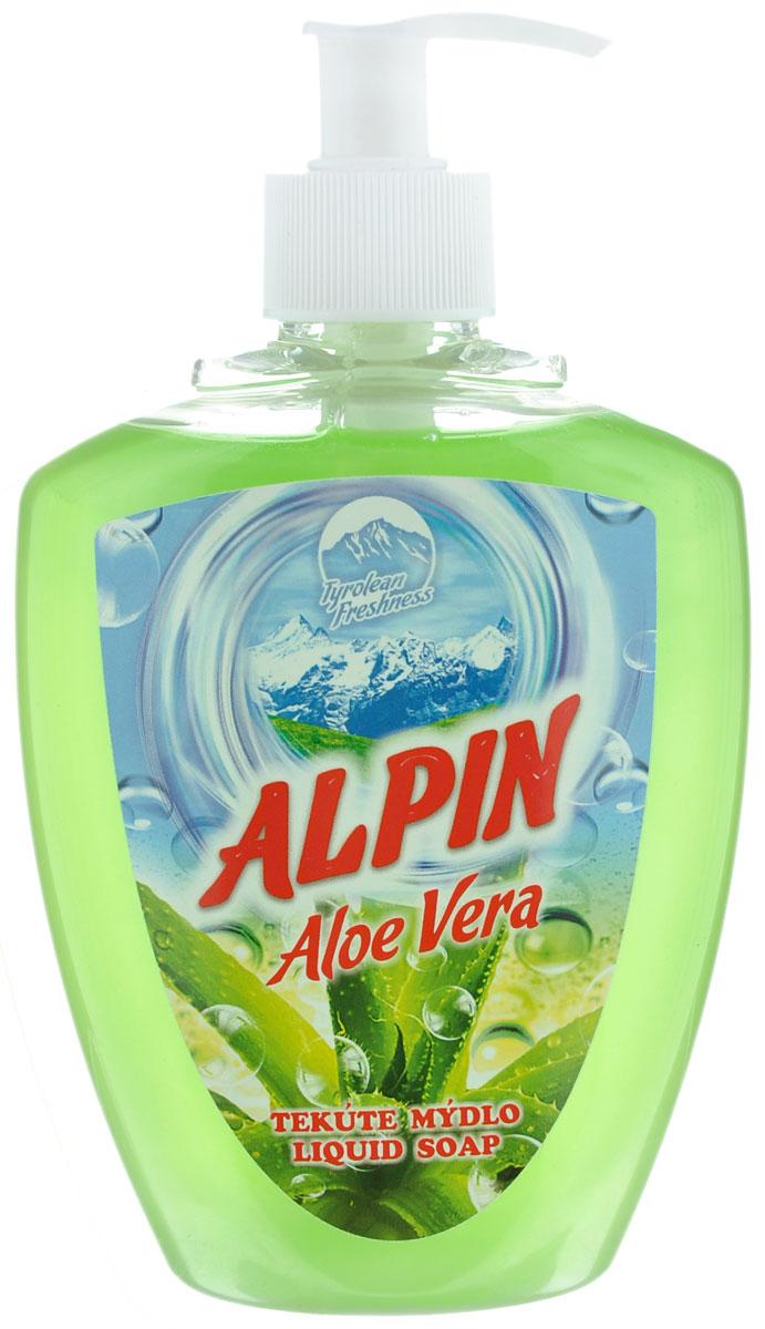 Жидкое мыло Alpin Aloe Vera, 500 млАB0500PAVAЖидкое мыло Alpin Aloe Vera подходит для бережного очищения кожи от любых загрязнений, обладает приятным ароматом. Создает обильную мыльную пену и придает коже ощущение чистоты, гладкости и шелковистости. Это мыло хорошо растворяется, имеет сбалансированный уровень рН, не вызывает раздражения и подходит для ежедневного очищения даже самой чувствительной кожи лица, рук и тела.Товар сертифицирован.Как выбрать качественную бытовую химию, безопасную для природы и людей. Статья OZON Гид