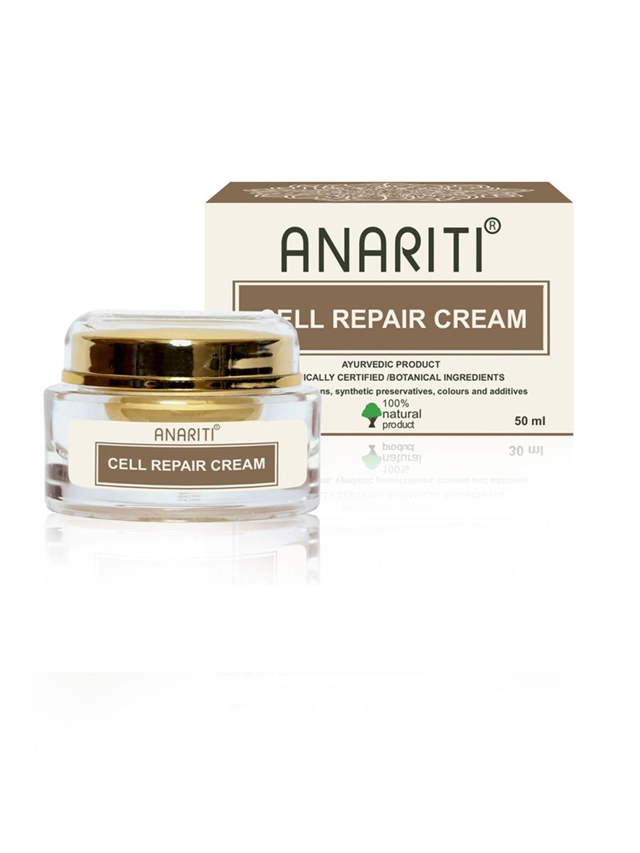 Anariti крем для глубокого восстановления зрелой кожи,50 г19109Cell Repair Cream – идеальное anti-age средство для ухода за увядающей кожей лица,шеи и области декольте, а также прекрасноевосстанавливающее средство для кожи, нуждающейся в специальном уходе. Высокоэффективный Cell Repair Cream обеспечиваетинтенсивную регенерацию клеток, в том числе стимулирует процесс обновления клетокзрелой кожи, стимулирует выработку коллагена и эластина, делая клеточное восстановление более мощным.В его состав входятуникальные растительные ингредиенты, в том числе комплекс ARSOL, разработанный Компанией «Амсар» — лидером по производству экстрактов, и впервые используемый в косметике для лица. ARSOL быстро и эффективно восстанавливает клетки кожи, в том числе после косметических операций, травматических процедур, ожогов. При регулярном применении крема заметно разглаживаются морщины, кожа становится гладкой, эластичной и упругой.