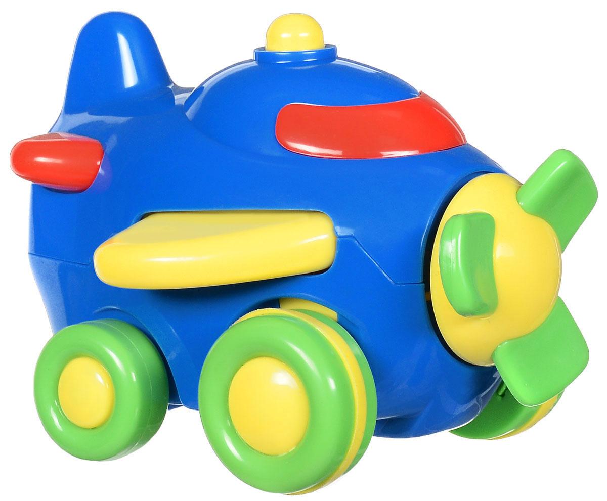 Simba Самолет инерционный цвет синий simba машинка игрушка лев