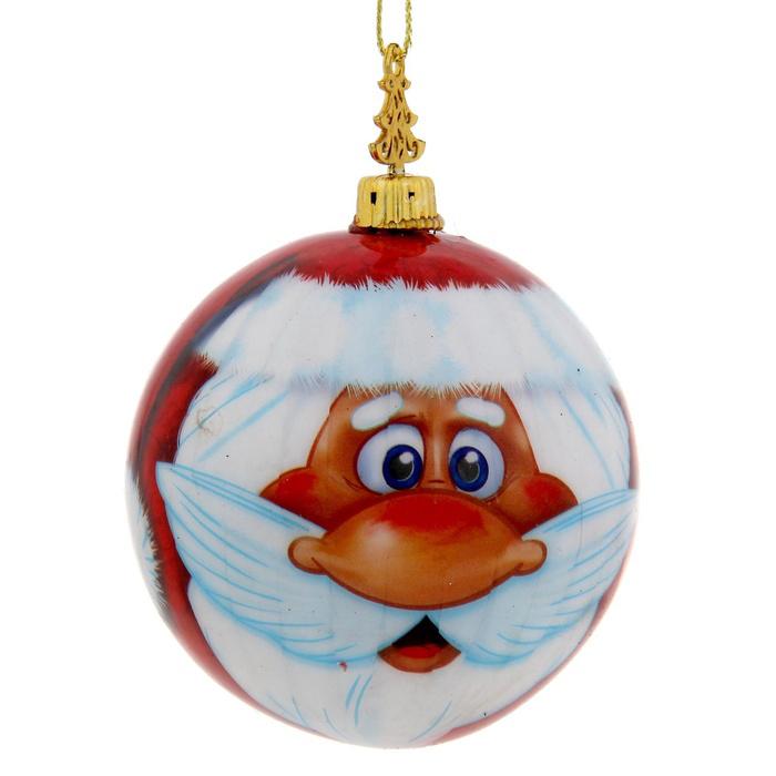 Новогоднее подвесное украшение Sima-land Дед Мороз, диаметр 8 см новогоднее подвесное украшение sima land дед мороз колокольчик бубенчик 17 5 см