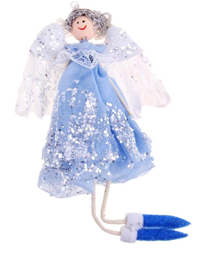 Новогоднее подвесное украшение Sima-land Воздушная девочка, цвет: голубой, высота 25 см686008Новогоднее украшение Sima-land Воздушная девочка отлично подойдет для декорации вашего дома и новогодней ели. Украшение выполнено в виде декоративной куклы и оформлено блестками. Изделие оснащено специальной петелькой для подвешивания. Елочная игрушка - символ Нового года. Она несет в себе волшебство и красоту праздника. Создайте в своем доме атмосферу веселья и радости, украшая всей семьей новогоднюю елку нарядными игрушками, которые будут из года в год накапливать теплоту воспоминаний.