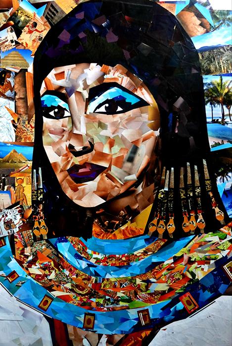 Авторская картина Клеопатра. Коллаж. Портрет, 70 х 50 см. Художник Ирина БастАКККЗакройте глаза, сделайте глубокий вдох, включите расслабляющую египетскую музыку... И уже перед вашими глазами проплывают жаркие облака, напитанные солнцем, золотые пески бескрайней пустыни, гонимые ветром, щекочут землю...Вдалеке, словно мираж, виднеются зеленые оазисы красивейших пальм... Как будто из песка вырастают высокие пирамиды и дворцы. Среди всех этих щедрых богатств лишь ОДНА ОНА. Богиня, воплощенная в земной женщине. Та, с чьим именем ассоциируют сверхдержаву древности. Красивая, соблазнительная, умная и проницательная КЛЕОПАТРА....Женщина, после которой мир никогда уже не станет прежним... Картина участвовала в *Персональной выставке Женщины. Они изменили мир (Санкт-Петербург) * В выставке картин серии Женщины. Они изменили историю в Центре Натальи ГрэйсГлянцевые журналы, бумага, клей. Пластиковая рама с паспарту. Пластик для сохранения изображения. Подвес на обратной сторонеКартина не требует дополнительной защиты, ее достаточно повесить на стену. Оформления не нужно. Ронять не рекомендуется.