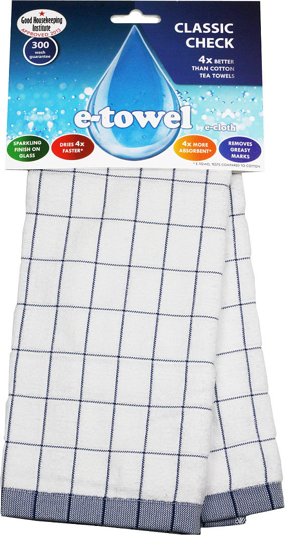 """Кухонное полотенце E-cloth """"Классическая клетка"""" изготовлено из смеси волокон e-towel и хлопка. Полотенце имеет классический дизайн с принтом в клетку, поэтому впишется в интерьер любой кухни. Обладает в 4 раза большей впитывающей способностью, чем обычные полотенца. Не оставляют разводов и отпечатков пальцев.  Такое полотенце станет прекрасным помощником у вас на кухне.  Материал: 60% полиэстер, 40% хлопок."""