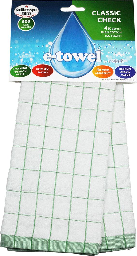 """Кухонное полотенце E-cloth """"Классическая клетка"""" изготовлено из смеси волокон e-towel и хлопка. Полотенце имеет классический дизайн с принтом в клетку, поэтому впишется в интерьер любой кухни. Обладает в 4 раза большей впитывающей способностью, чем обычные полотенца. Не оставляет разводов и отпечатков пальцев.  Такое полотенце станет прекрасным помощником у вас на кухне.  Материал: 60% полиэстер, 40% хлопок."""