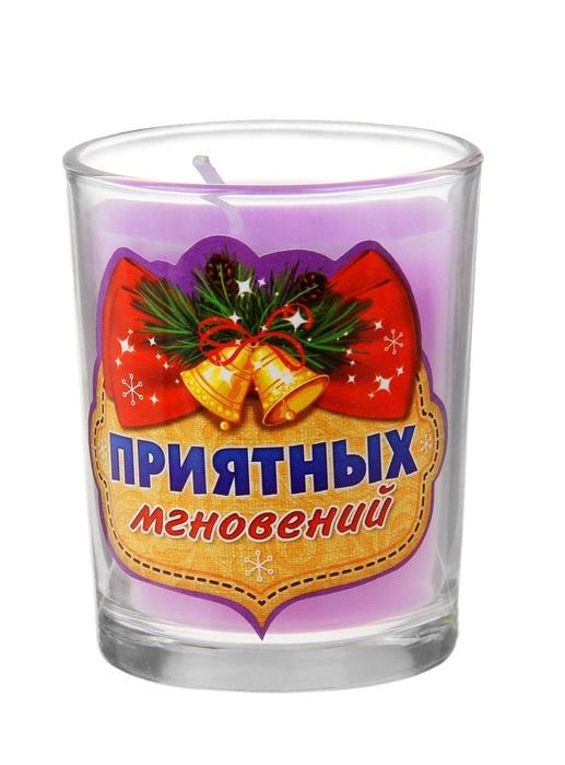 Свеча ароматизированная Sima-land Приятных мгновений, высота 6 см
