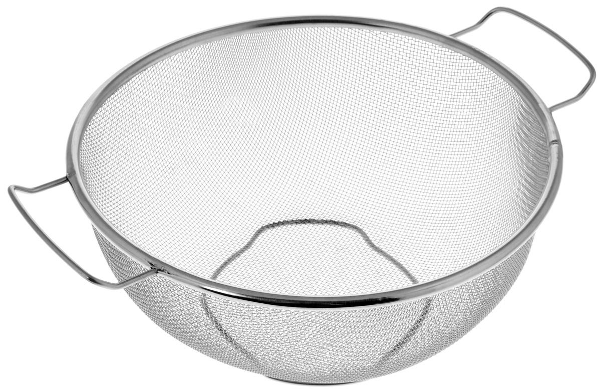 Дуршлаг Sam Mei, диаметр 22 смSM205DH/RКруглый дуршлаг Sam Mei, выполненный из высококачественной нержавеющей стали, станет полезным приобретением для вашей кухни. Он идеально подходит для мытья и обсушивания салатов, зелени, овощей и фруктов. Дуршлаг оснащен устойчивым основанием и удобными ручками для переноски.Диаметр (по верхнему краю): 22 см.Ширина (с учетом ручек): 28 см.Высота: 10 см.