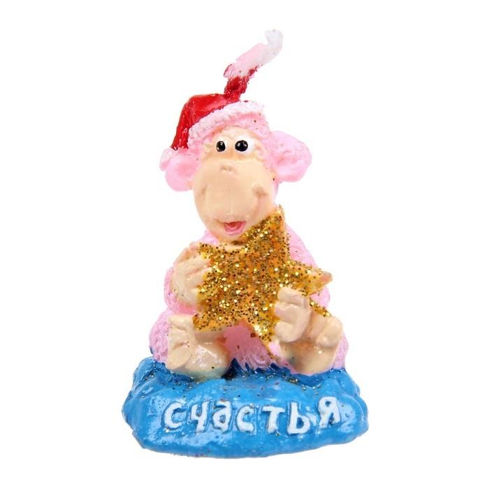 """Декоративная свеча Sima-land """"Счастья"""" выполнена из воска в виде обезьянки со звездой. Изделие отличается ярким дизайном, который понравится всем.   Такая свеча может стать отличным подарком или дополнить интерьер вашей  комнаты."""