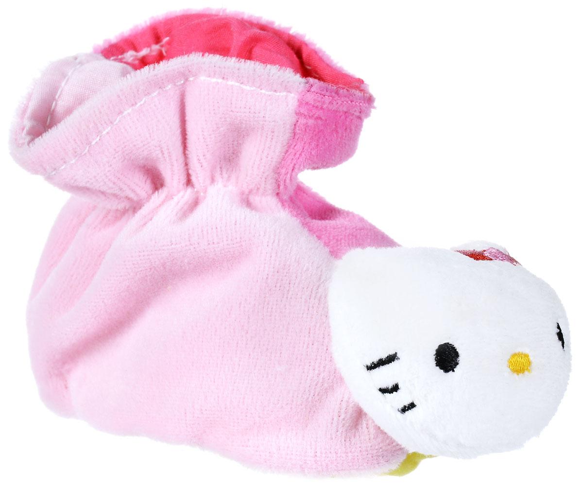 Hello Kitty Игрушка-погремушка Тапочки цвет розовый hello kitty во что бы поиграть наклей и раскрась
