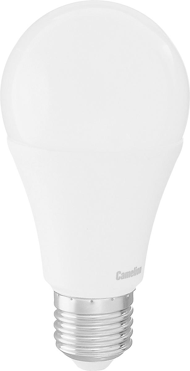 Лампа светодиодная Camelion, теплый свет, цоколь Е27, 13WLED13-A60/830/E27Энергосберегающая лампа Camelion - это инновационное решение, разработанное на основе новейших светодиодных технологий (LED) для эффективной замены любых видов галогенных или обыкновенных ламп накаливания во всех типах осветительных приборов. Она хорошо подойдет для освещения квартир, гостиниц и ресторанов. Лампа не содержит ртути и других вредных веществ, экологически безопасна и не требует утилизации, не выделяет при работе ультрафиолетовое и инфракрасное излучение. Напряжение: 220-240 В / 50 Гц.Индекс цветопередачи (Ra): 77.Угол светового пучка: 270°. Использовать при температуре: от -30° до +40°.