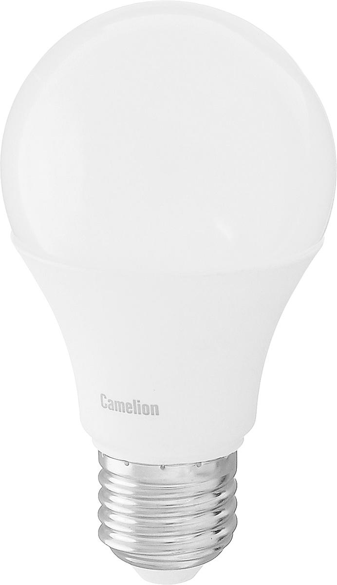 Лампа светодиодная Camelion, теплый свет, цоколь Е27, 11W11-A60/830/E27Энергосберегающая лампа Camelion - это инновационное решение, разработанное на основе новейших светодиодных технологий (LED) для эффективной замены любых видов галогенных или обыкновенных ламп накаливания во всех типах осветительных приборов. Она хорошо подойдет для освещения квартир, гостиниц и ресторанов. Лампа не содержит ртути и других вредных веществ, экологически безопасна и не требует утилизации, не выделяет при работе ультрафиолетовое и инфракрасное излучение. Напряжение: 220-240 В / 50 Гц.Индекс цветопередачи (Ra): 82+.Угол светового пучка: 270°. Использовать при температуре: от -30° до +40°.
