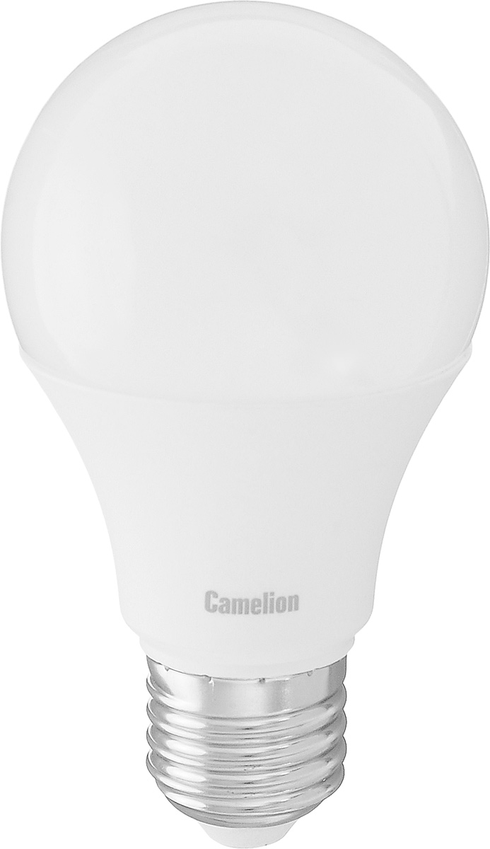 Лампа светодиодная Camelion, теплый свет, цоколь Е27, 9W9-A60/830/E27Энергосберегающая лампа Camelion - это инновационное решение, разработанное на основе новейших светодиодных технологий (LED) для эффективной замены любых видов галогенных или обыкновенных ламп накаливания во всех типах осветительных приборов. Она хорошо подойдет для освещения квартир, гостиниц и ресторанов. Лампа не содержит ртути и других вредных веществ, экологически безопасна и не требует утилизации, не выделяет при работе ультрафиолетовое и инфракрасное излучение. Гарантия производителя 3 года.Напряжение: 220-240 В / 50 Гц.Индекс цветопередачи (Ra): 82+.Угол светового пучка: 270°. Использовать при температуре: от -30° до +40°.