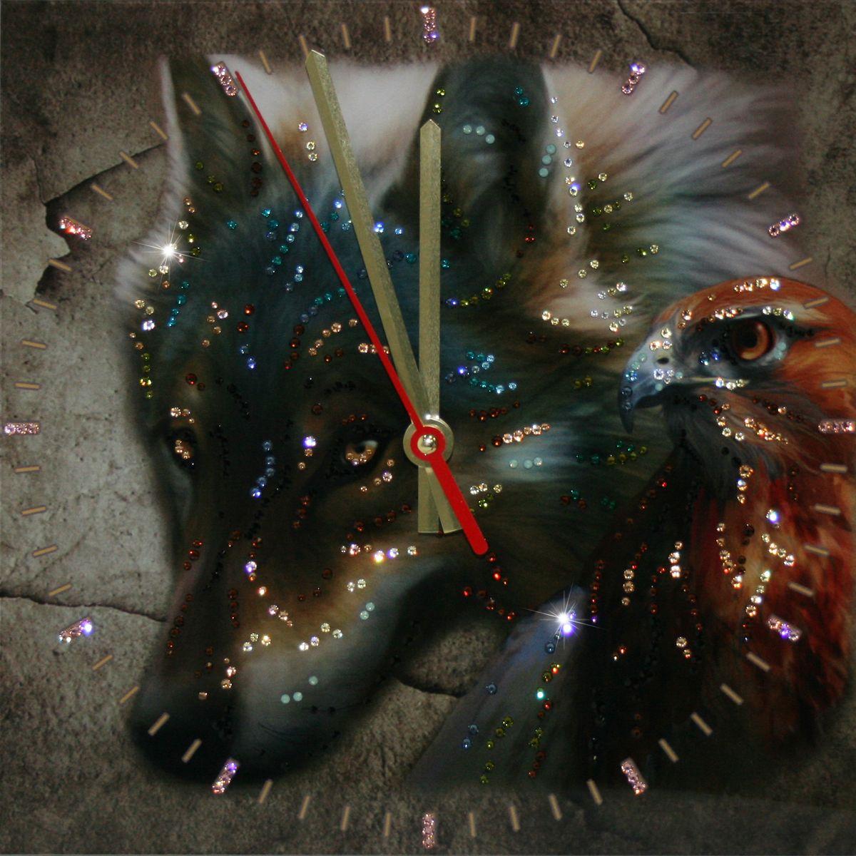 1660 Часы СваровскиВзгляд хищника1660Часы без багета, инкрустированные кристалами Сваровски.