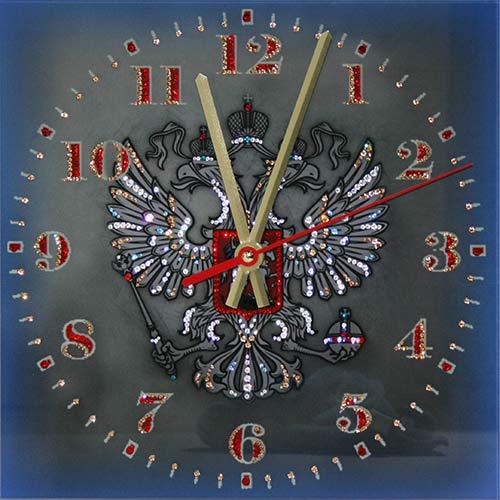 1659 Часы СваровскиГерб РФ1659Часы без багета, инкрустированные кристалами Сваровски.