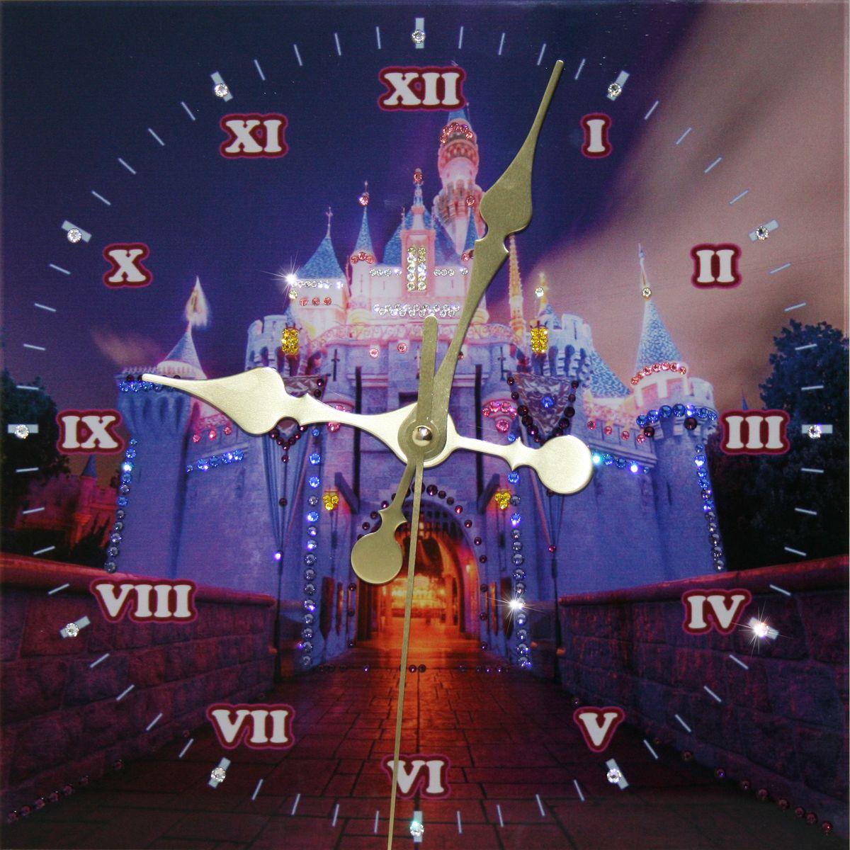 1647 Часы Сваровски Замок1647Часы без багета, инкрустированные кристалами Сваровски.