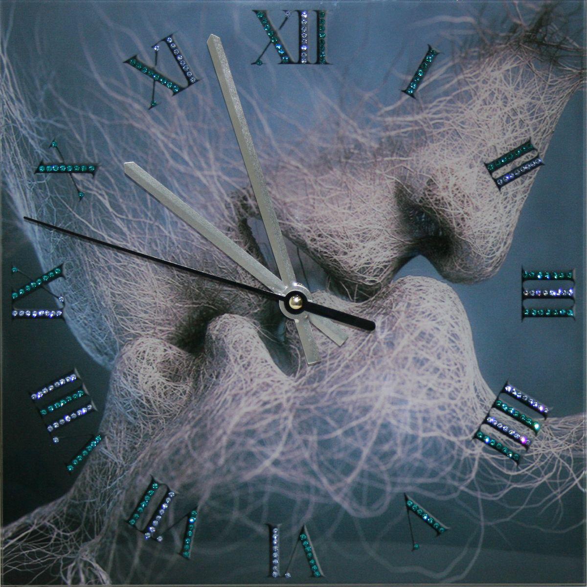 1646 Часы СваровскиВремя любви1646Часы без багета, инкрустированные кристалами Сваровски.