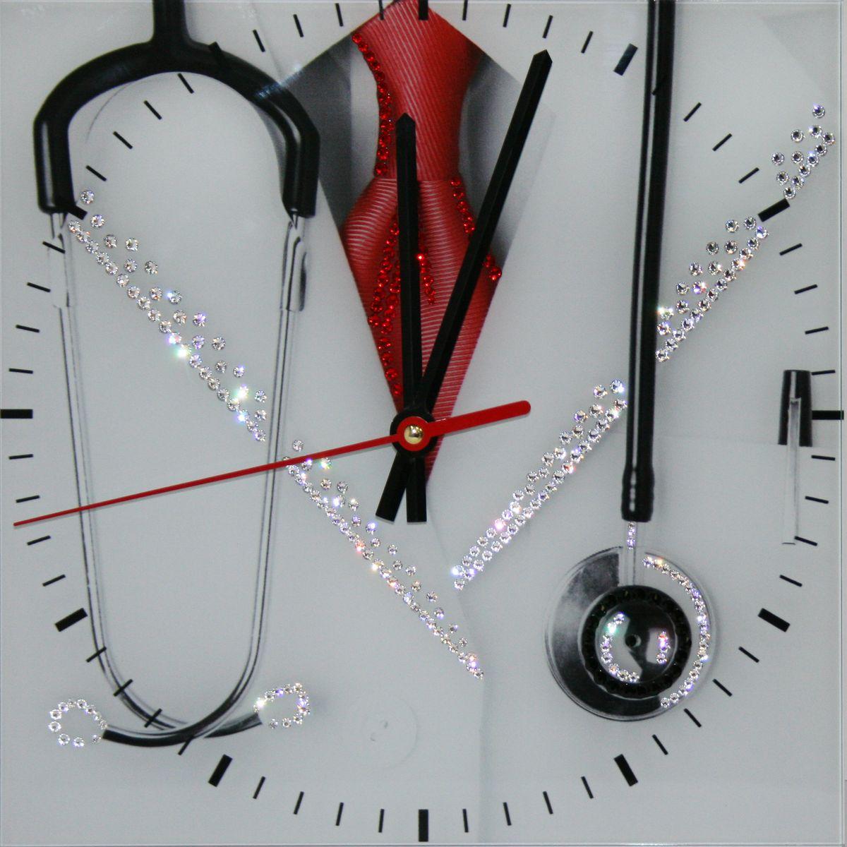 1644 Часы СваровскиДоктор1644Часы без багета, инкрустированные кристалами Сваровски.