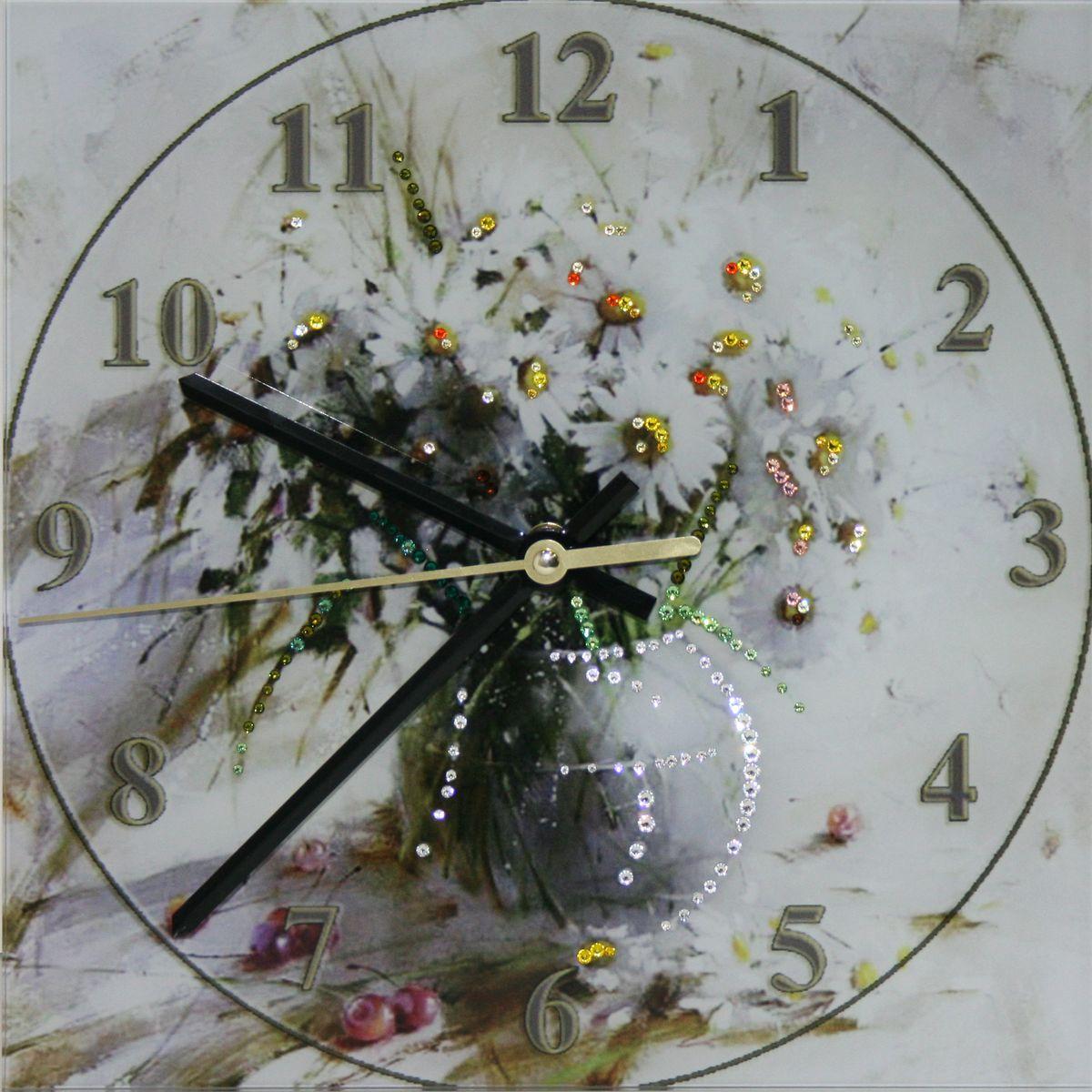 1641 Часы СваровскиБукет ромашек1641Часы без багета, инкрустированные кристалами Сваровски.