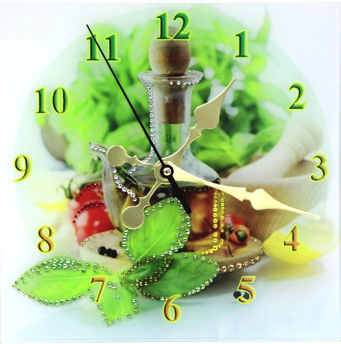 1673 Часы СваровскиКухня1673Часы без багета, инкрустированные кристалами Сваровски.