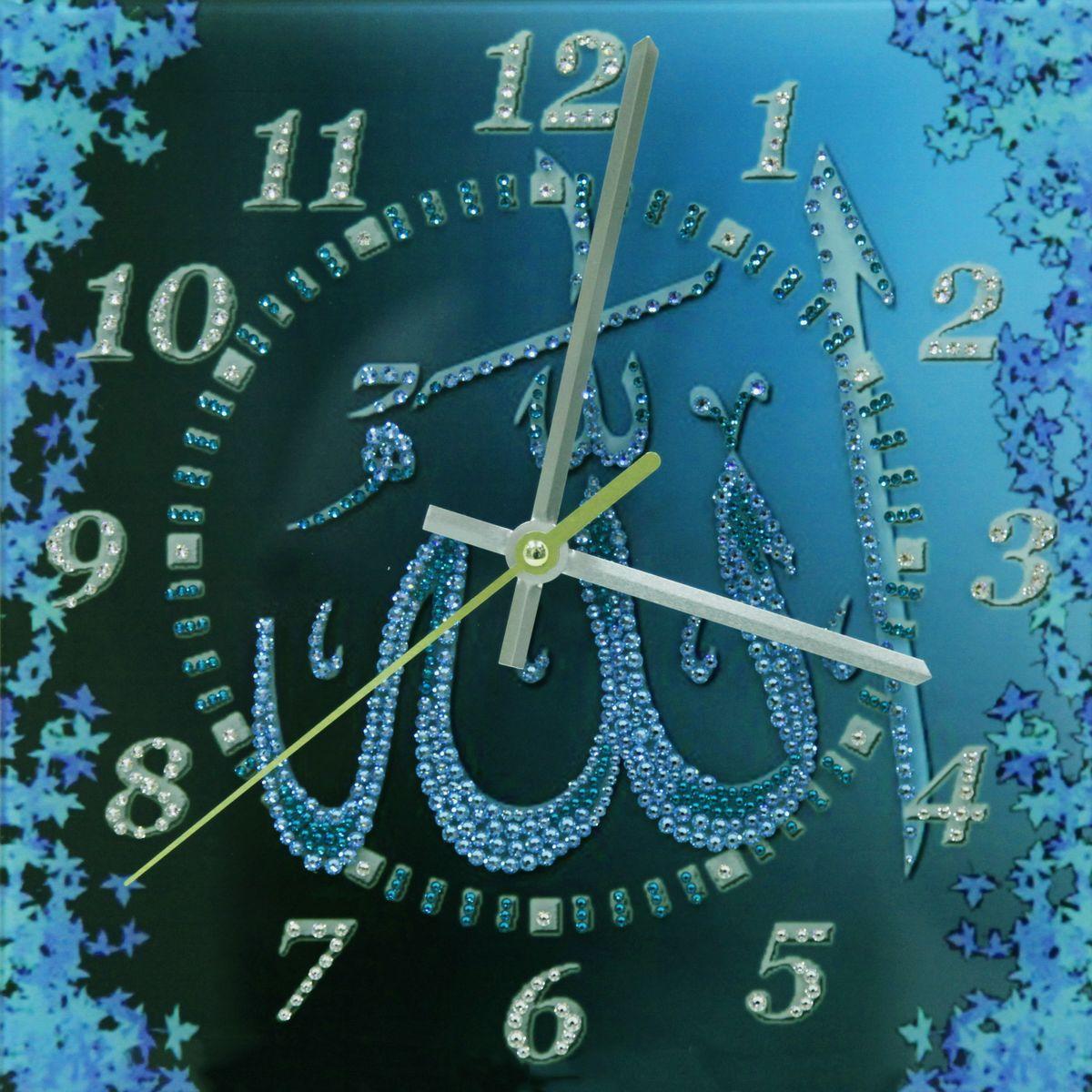 1668 Часы СваровскиАллах бирюза1668Часы без багета, инкрустированные кристалами Сваровски.
