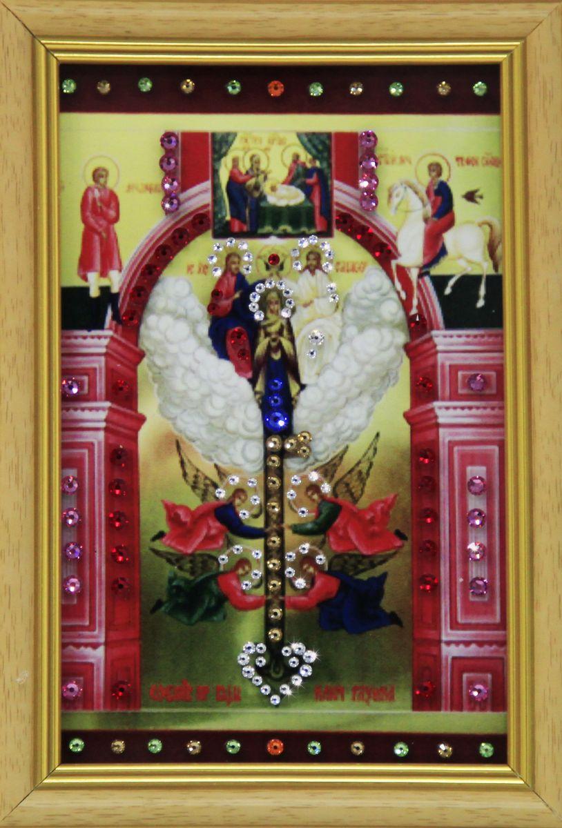 1686 Картина СваровскиКлюч Разумения1686Картина в багете, инкрустированная кристалами сваровски