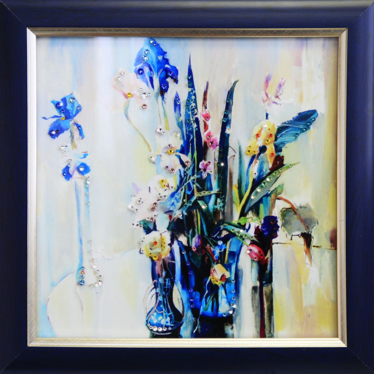 1696 Картина СваровскиВесеннее настроение1696Картина в багете, инкрустированная кристалами сваровски